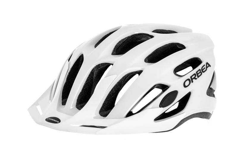 CASCO BICI ORBEA ARI-UNIFIED M BLANCO-PLATA
