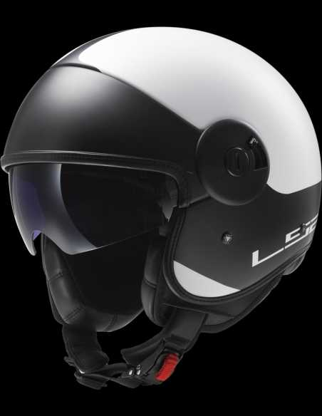 CASCO LS2 OF597 CABRIO VIA BLANCO/NEGRO