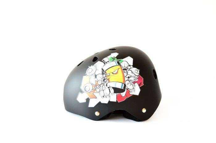 CASCO BICI SKATE-BMX T/S NEGRO