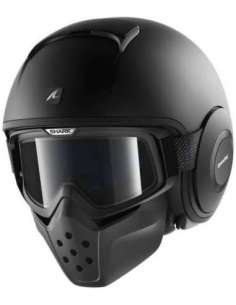 CASCO SHARK DRAK NEGRO MATE S