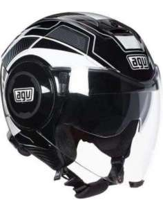 CASCO AGV FLUID SOHO NEGRO-BLANCO