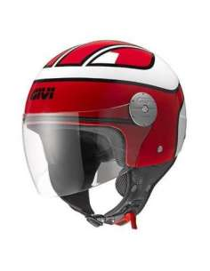 CASCO GIVI 107 MINI-BOBBER ROJO BLANCO