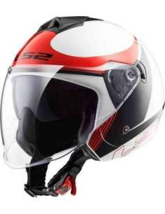 CASCO LS2 OF573 TWISTER PLAN ROJO