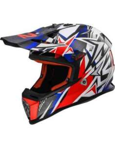 CASCO LS2 MX437 STRONG AZUL/ROJO S
