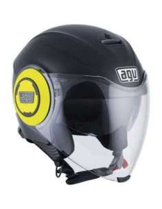 CASCO AGV FLUID NEGRO-AMARILLO