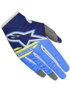 GUANTES ALPINESTARS RADAR FLIGHT 18 AZUL/AMARILLO