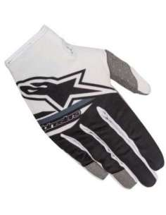 GUANTES ALPINESTARS RADAR FLIGHT 18 BLANCO/NEGRO