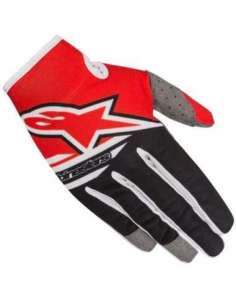 GUANTES ALPINESTARS RADAR FLIGHT 18 ROJO/NEGRO