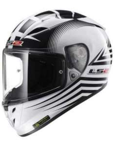 CASCO LS2 FF323 ARROW R TRAX BLANCO-NEGRO M
