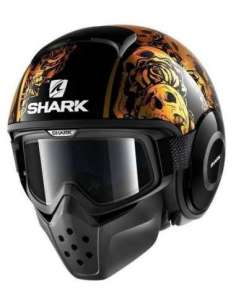 CASCO SHARK DRAK SANCTUS NARANJA