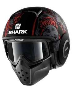 CASCO SHARK DRAK SANCTUS KRA ROJO