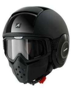 CASCO SHARK DRAK DUAL BLACK XS