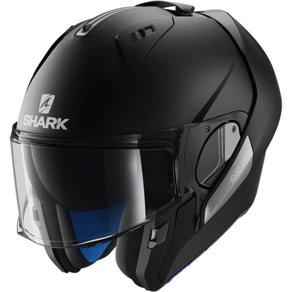 CASCO SHARK EVO-ONE BLANK NEGRO MATE