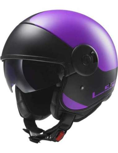 CASCO LS2 OF597 CABRIO NEGRO-LILA