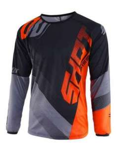 CAMISETA SHOT ULTIMATE NEGRO-NARANJA