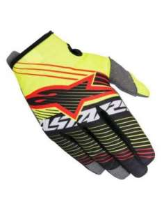 GUANTES ALPINESTARS RADAR JUNIOR AMARILLO-NEGRO