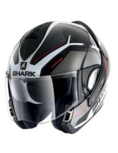 CASCO SHARK EVOLINE S3 HATAUM NEGRO BLANCO