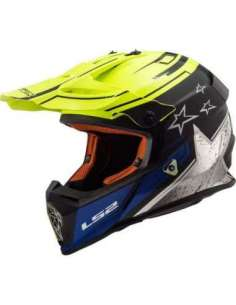 CASCO LS2 MX437 CORE NEGRO AMARILLO
