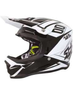 CASCO SHOT FURIOUS ALERT NEGRO-BLANCO