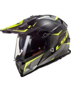 CASCO LS2 MX436 RING NEGRO AMARILLO