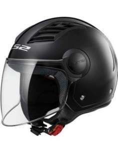 CASCO LS2 OF562 AIRFLOW NEGRO BRILLO