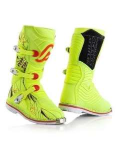 BOTAS ACERBIS SHARK JUNIOR AMARILLO FLUO 34