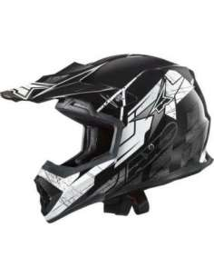 CASCO AXO MX TRIBE NEGRO-BLANCO