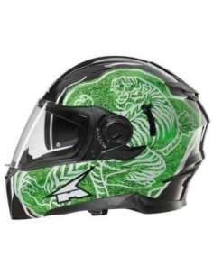 CASCO AXO INTEGRAL RS01 NEGRO-VERDE