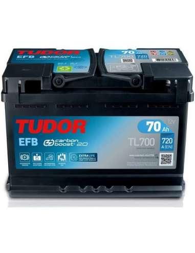 Bateria Tudor EFB 70Ah +Dcho. 720En