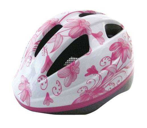 CASCO BICI INFANTIL FLOWER BLANCO