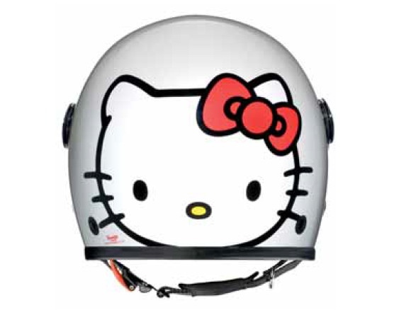 CASCO AXO KITTY INFANTIL BLANCO