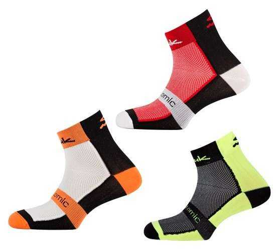 CALCETINES SPIUK PACK 3 UDS. ANATOMIC ROJO/BLANCO-BLANCO/NEGRO