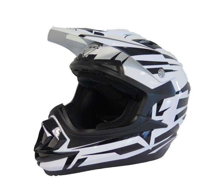 CASCO NVG MX306 JUNIOR BRAVO NEGRO