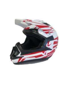CASCO NVG MX 306 JUNIOR BRAVO ROJO